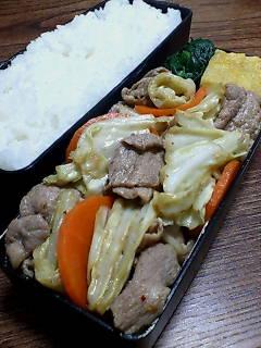 豚肉とキャベツのバルサミコいしる炒め