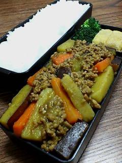 挽き肉とサツマイモのカレー煮