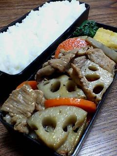 豚肉とレンコンの七味炒め