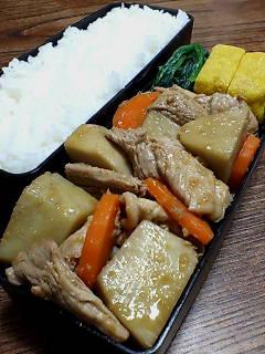 豚肉とヤツガシラの生姜炒め