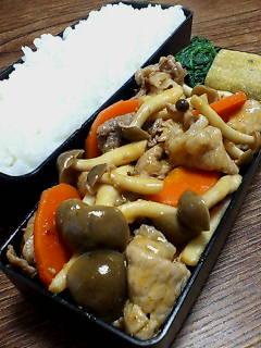豚肉とシメジのケチャップチリ炒め