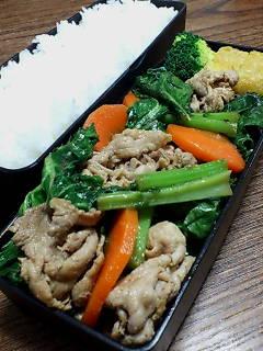 豚肉とかき菜の生姜炒め
