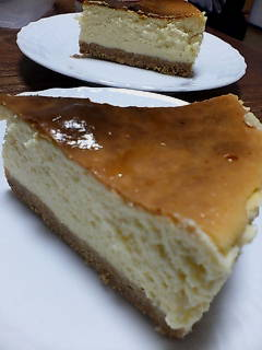 昨夜のチーズケーキ