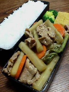 豚肉とウドの柚子胡椒醤油炒め