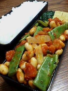 大豆とモロッコインゲンのトマト煮