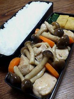 鶏肉とシメジの七味ポン酢炒め