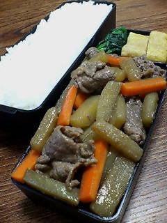 牛肉とヤーコンの山椒炒め