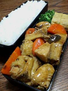 鶏肉とエリンギの煮ぬき汁炒め