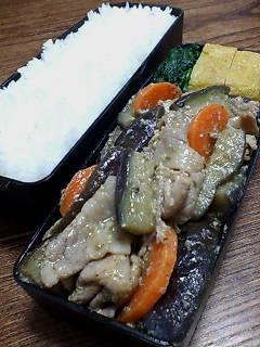 豚肉とナスの七味味噌炒め