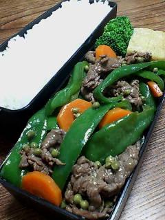 牛肉とピーマンの実山椒炒め