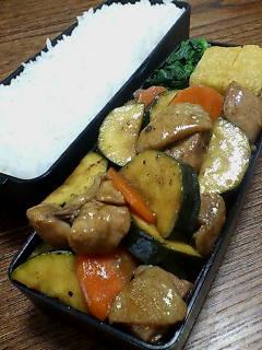 鶏肉とズッキーニの醤油バルサミコ炒め