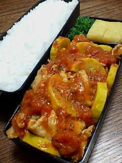 豚肉とズッキーニのトマト煮