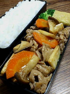 豚肉とエリンギの黒酢チリパウダー炒め