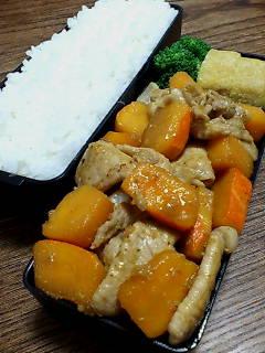 豚肉とカボチャの生姜炒め