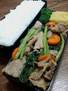 豚肉と小松菜のバルサミコ柚子胡椒炒め