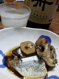 秋刀魚と日本酒