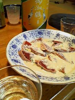 鰹たたきマヨネーズポン酢