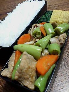 豚肉とバナナピーマンの生姜炒め