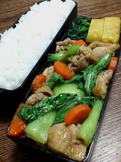 鶏肉と青梗菜の生姜炒め