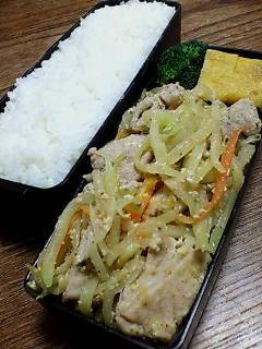 豚肉と青パパイヤしりしりの炒め物