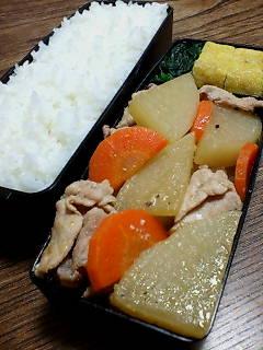 豚肉と大根の味噌黒胡椒煮
