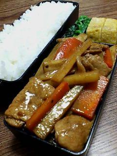 豚肉とウドの甜麺醤黒酢炒め