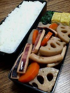 イカとレンコンの煮物