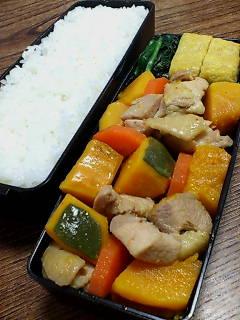鶏肉とカボチャの煮物
