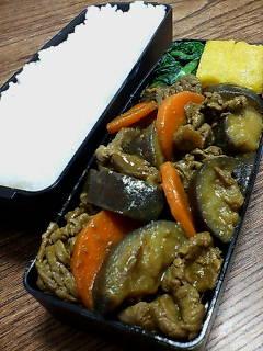 牛肉と米ナスのカレー炒め