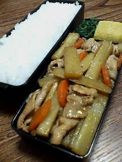 豚肉とウドの生姜炒め
