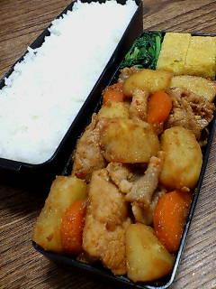 豚肉とジャガイモのピリ辛炒め
