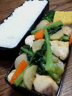 鰆と大根菜の生姜炒め