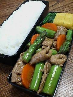 豚肉とアスパラガスの柚子胡椒炒め