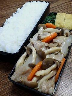 豚肉とシメジのゴマダレ炒め