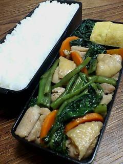 鶏肉と空芯菜のオイスターソース炒め