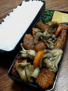 サバのカレー焼きと舞茸炒め