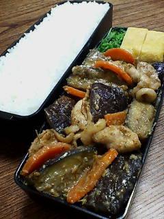 豚肉とナスのタイム辛味噌炒め