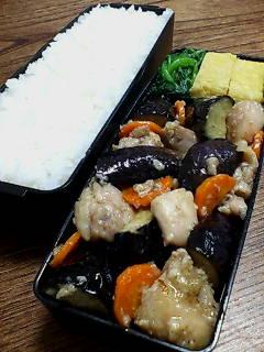 鶏肉と揚げナスの塩麹炒め