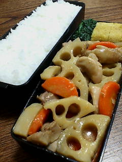 鶏肉とレンコンの味噌煮