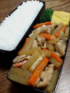 豚肉と大根のナンプラー柚子胡椒炒め