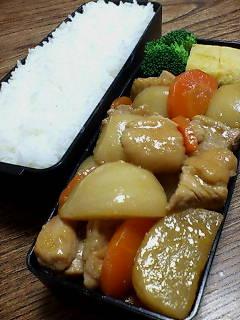 鶏肉とカブの炒め煮