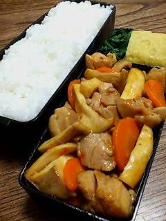 鶏肉とエリンギのケチャップ豆板醤炒め