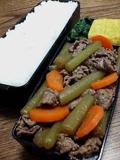 牛肉とフキの山椒煮