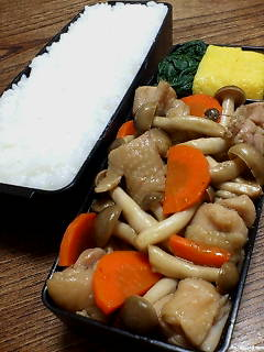 鶏肉とシメジのオイスターバルサミコ炒め