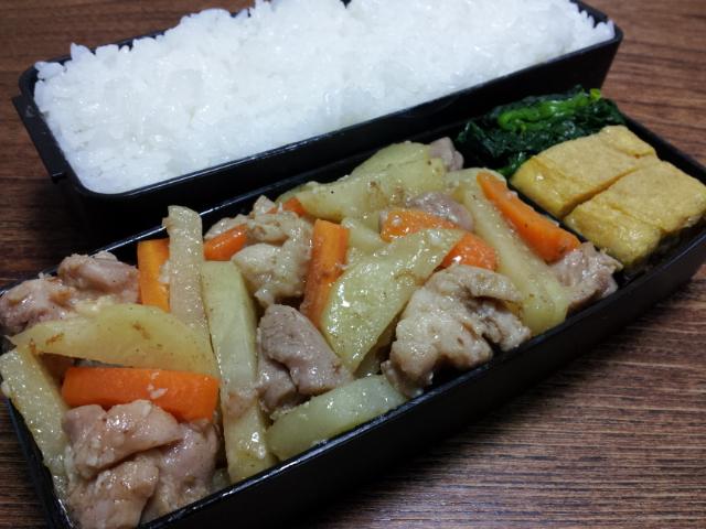 鶏肉とジャガイモの塩麹柚子胡椒炒め