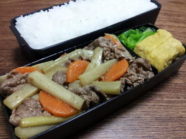 牛肉とウドの黒酢山椒炒め
