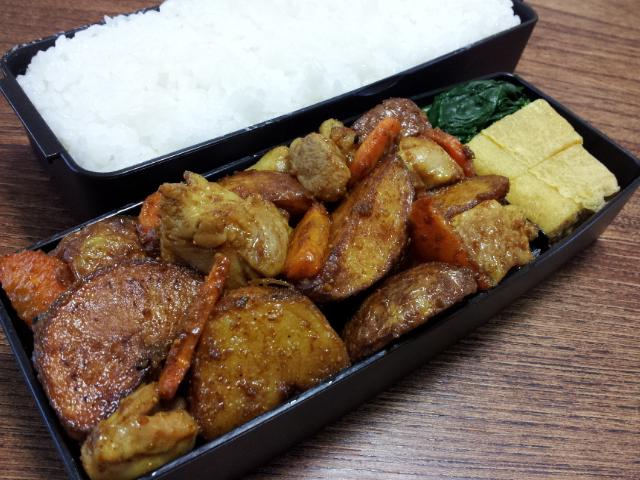 Fw:鶏肉と揚げジャガのオイスターカレー炒め