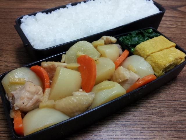 鶏肉とカブの味噌煮