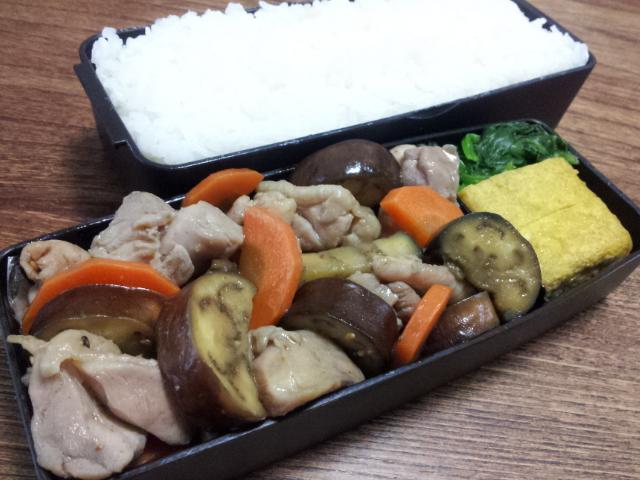 鶏肉とナスのオイスター黒酢炒め