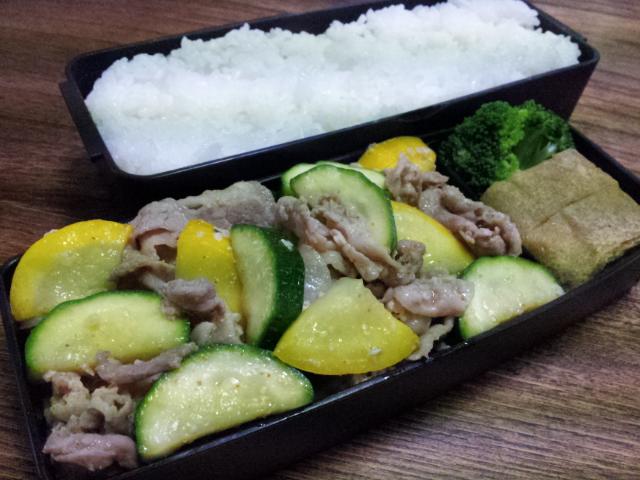豚肉とズッキーニの塩麹七味炒め